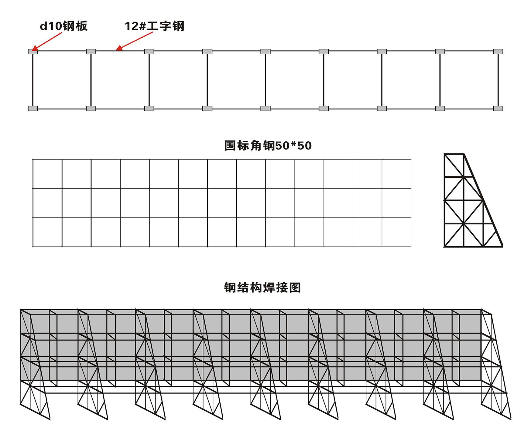 led不锈钢发光字结合钢结构组合成楼体广告标识