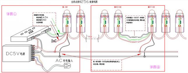 led发光字如何接线?电源如何接线?