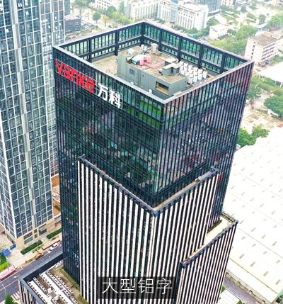 东莞·万科大厦楼体发光字广告牌安装工程